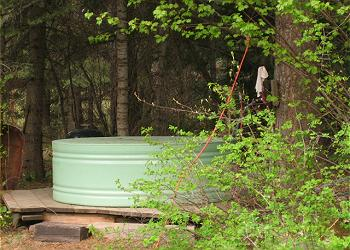 The Hideaway Cabin's Geothermal Tub