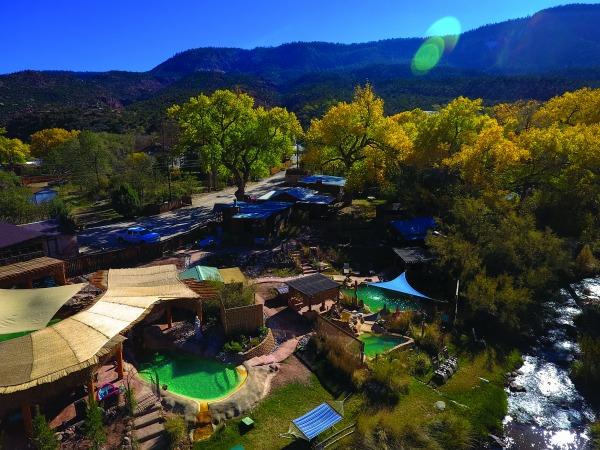 Jamez Hot Springs Overhead View