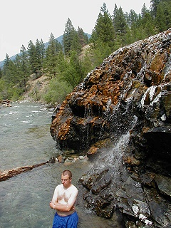 Hotspringsguy Shower Bath Owen Cabin And Upper Loon Hot